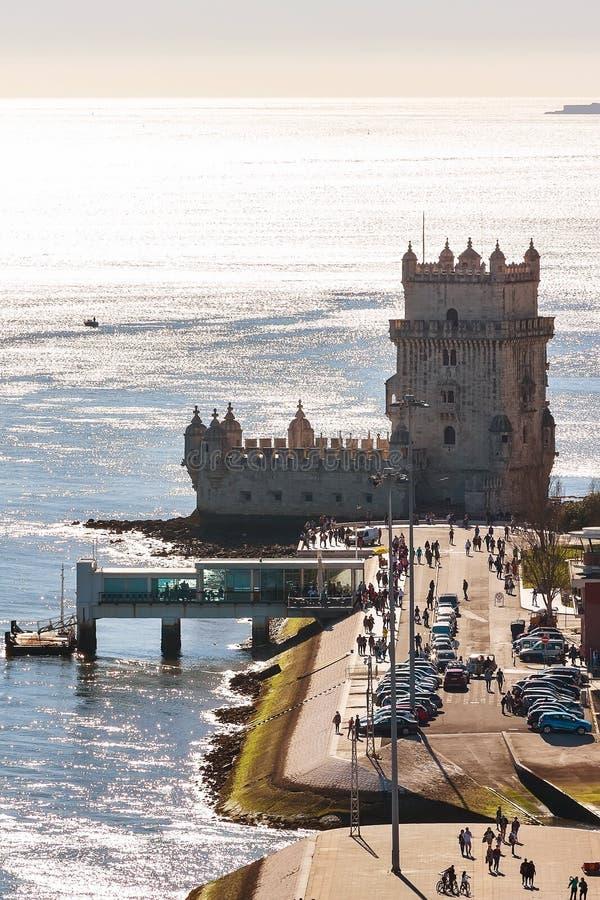 Tour de Lisbonne, Belem et Tage, Portugal photo stock