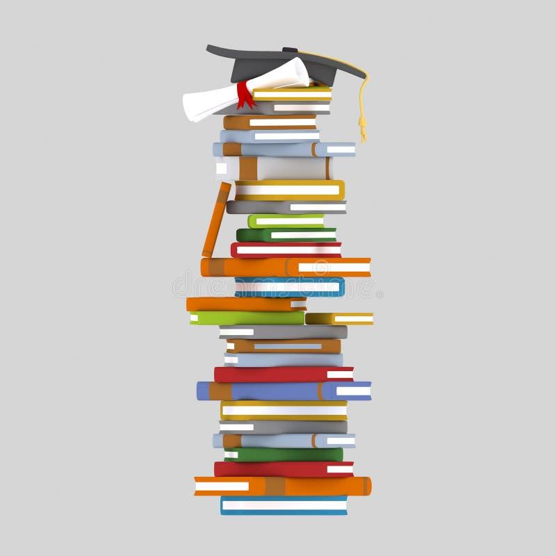 Tour de livres illustration libre de droits
