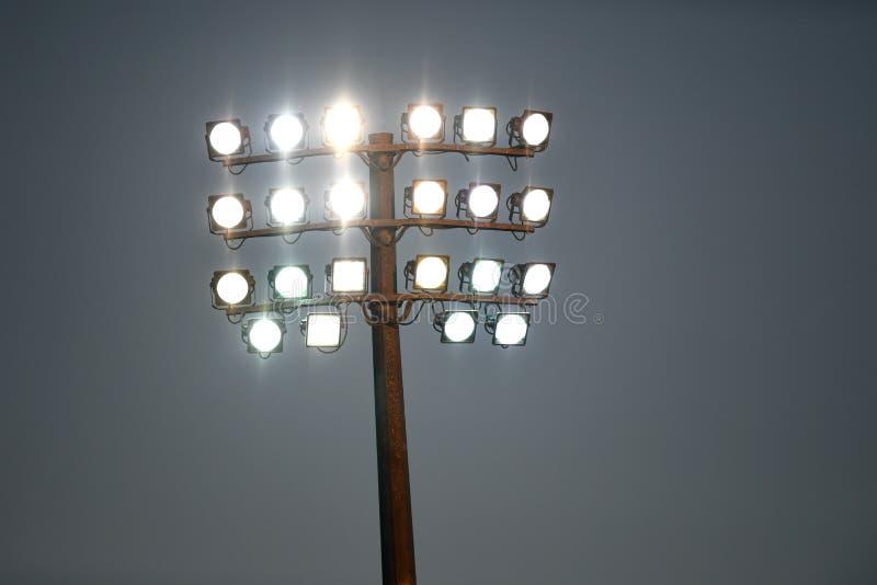 Tour de lumière sportive de stade photos libres de droits