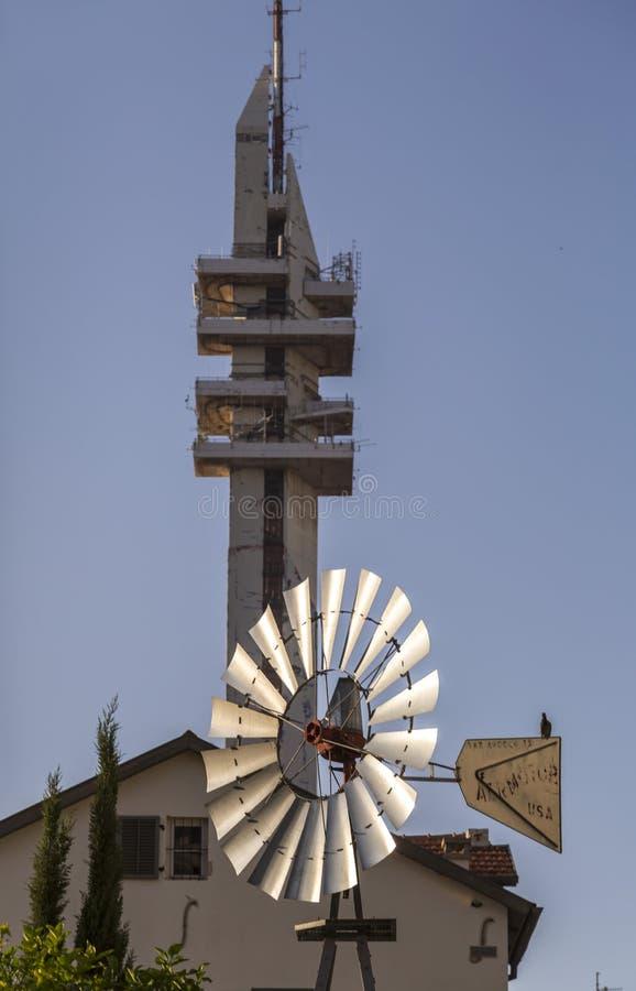 Tour de Marganit, un point de repère significatif de Tel Aviv photographie stock libre de droits