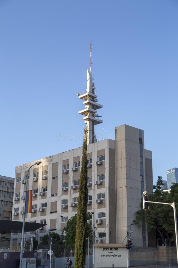 Tour de Marganit, un point de repère significatif de Tel Aviv image libre de droits
