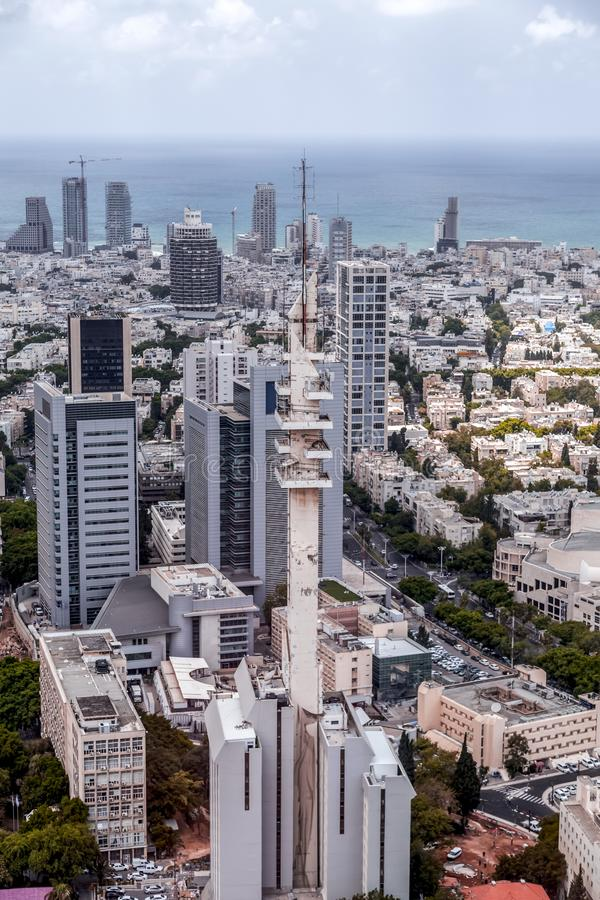 Tour de Marganit, un point de repère significatif de Tel Aviv images libres de droits
