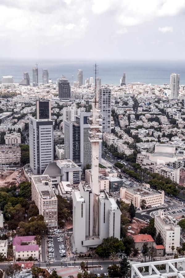 Tour de Marganit, un point de repère significatif de Tel Aviv photos libres de droits