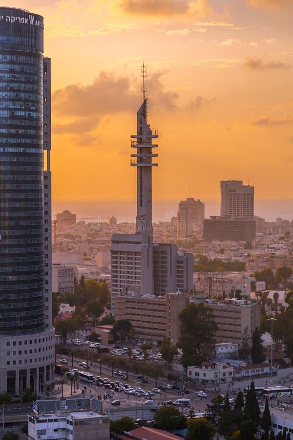 Tour de Marganit, un point de repère significatif de Tel Aviv photo libre de droits
