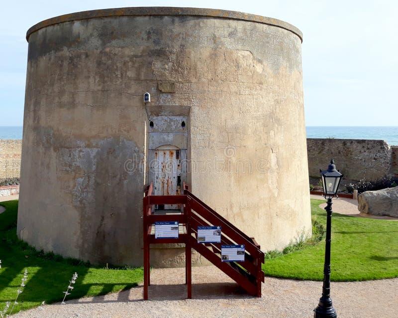 Tour de Martello historique à Eastbourne photo stock