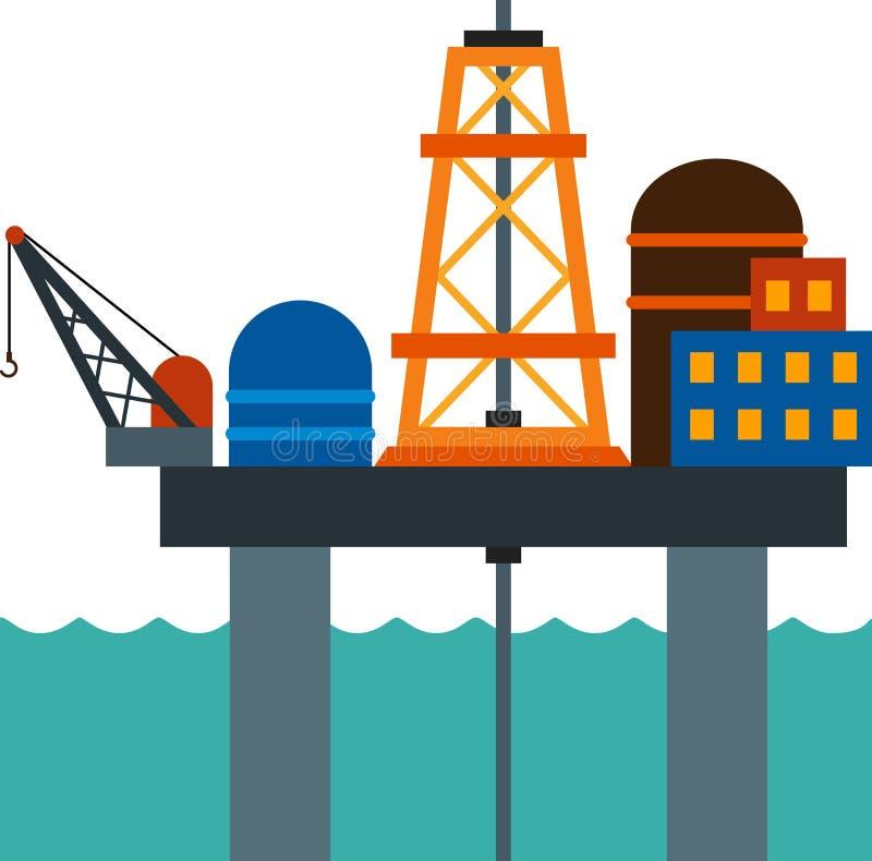 Tour de mer illustration libre de droits