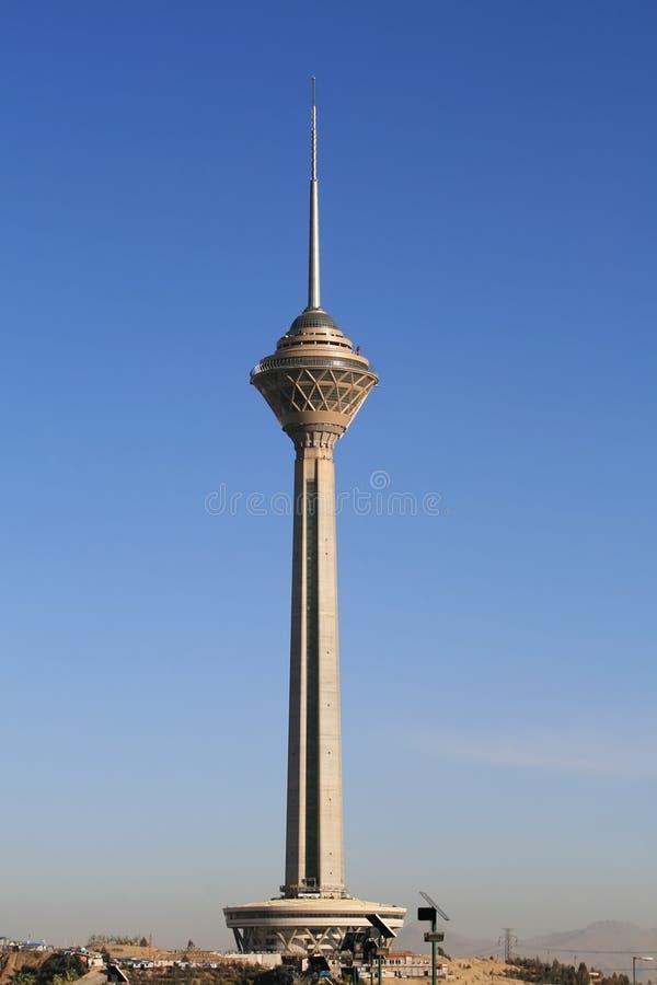 Tour de Milad dans Téhéran, Iran photographie stock libre de droits