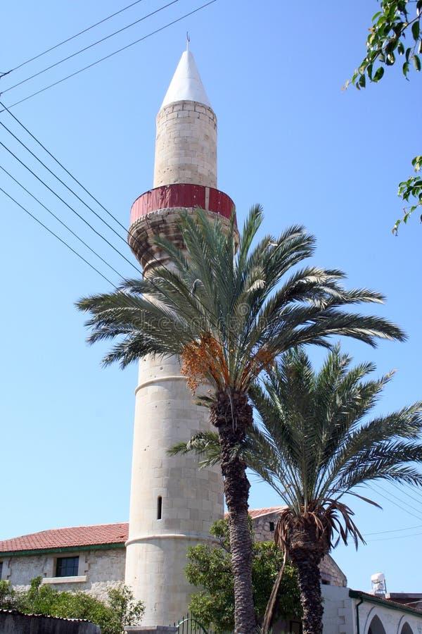 Tour de minaret de la Chypre images libres de droits