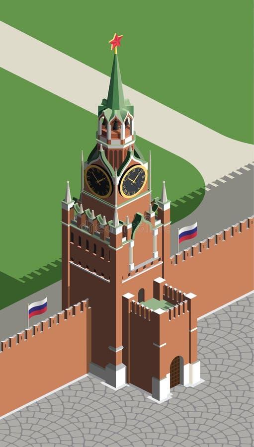Tour de Moscou Kremlin illustration libre de droits