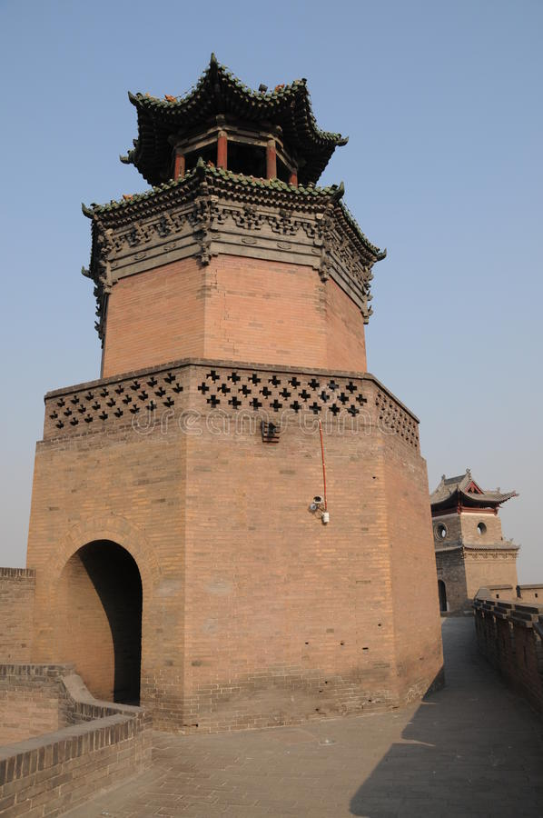 Tour de mur et de Kuixin de ville de Pingyao photos libres de droits