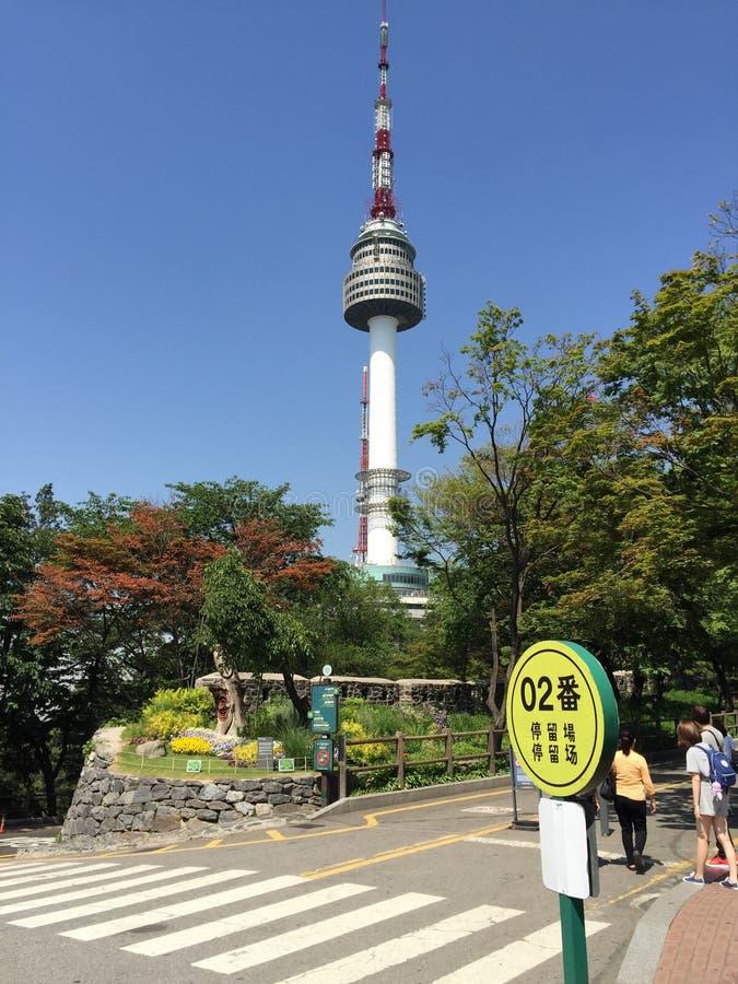 Tour de N Séoul photos stock