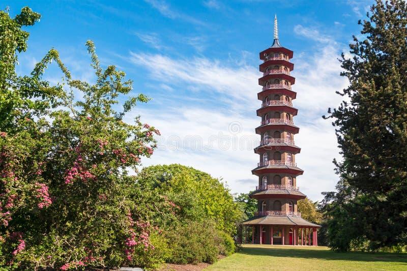 Tour de pagoda dans des jardins de Kew photographie stock