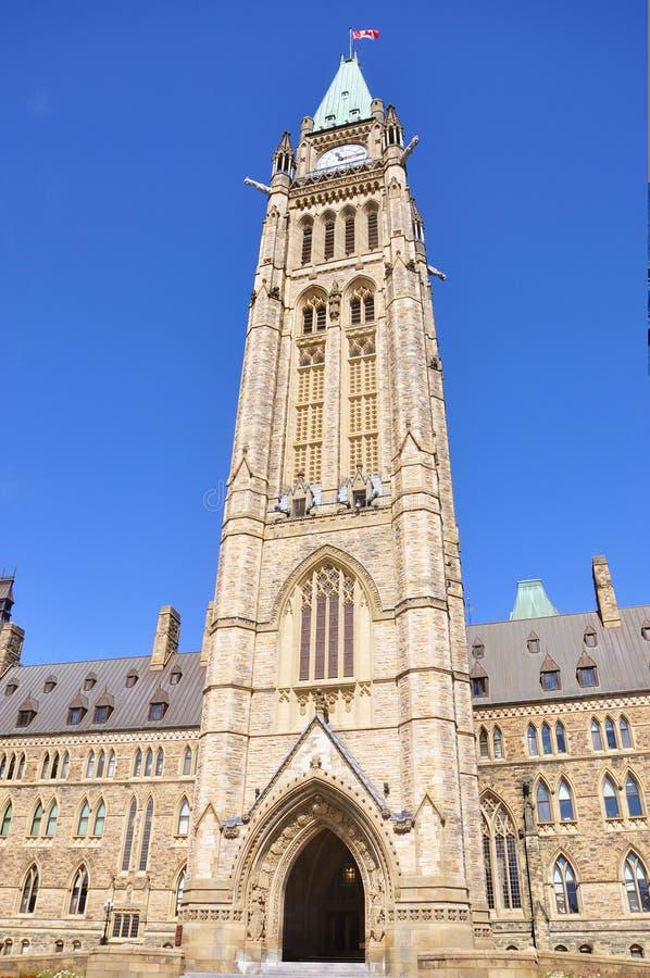 Tour de paix des constructions du Parlement, Ottawa photographie stock