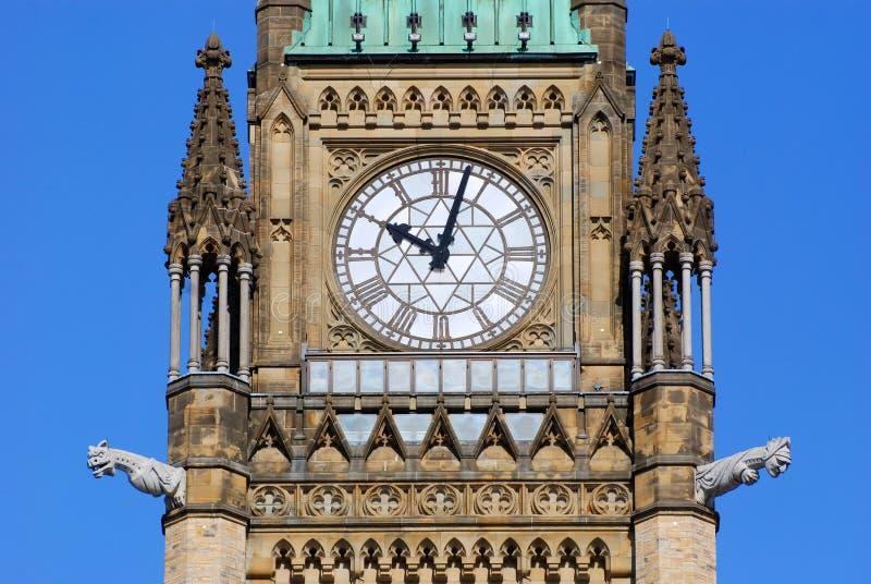 Tour de paix des constructions du Parlement, Ottawa photo stock