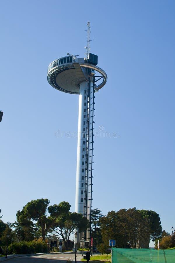 Tour de phare de Moncloa à Madrid photo stock