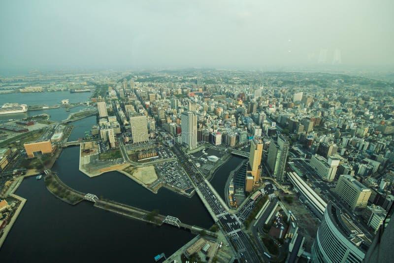 Tour de point de repère, Yokohama Japon, Minato Mirai image libre de droits