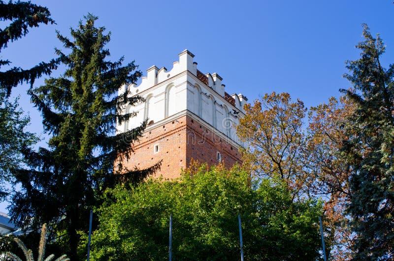 Tour de porte de Sandomierz - la Pologne photo libre de droits