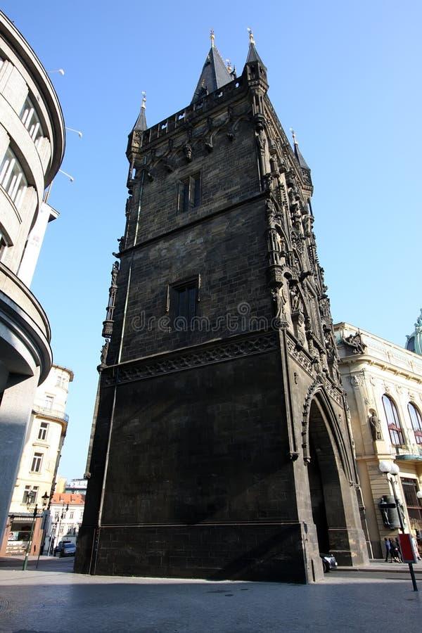 Tour de poudre, Prague images libres de droits