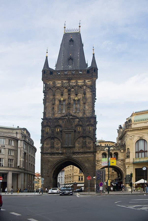 Tour de poudre, Prague photos stock