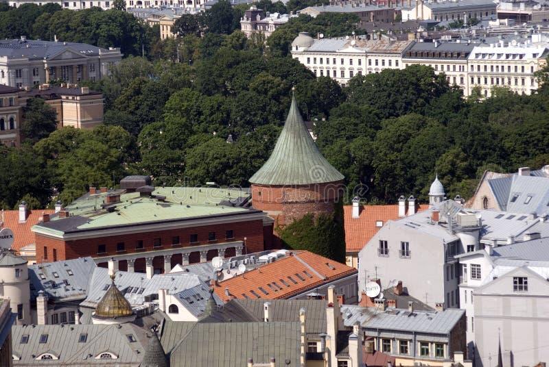 Tour de poudre, Riga, Lettonie image libre de droits