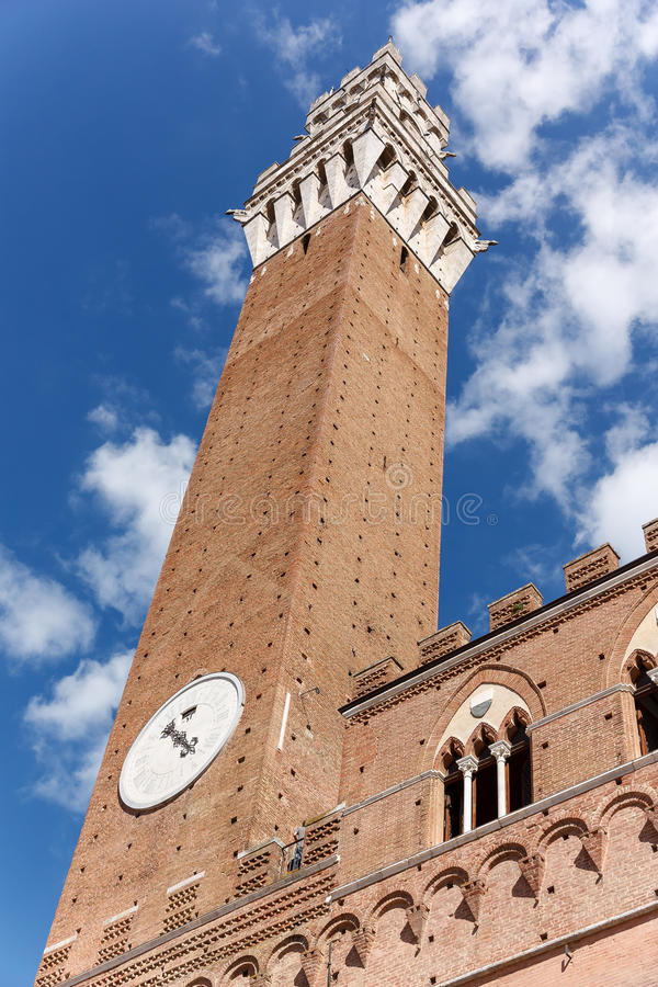 Tour de puissance Piazza del Campo photos stock