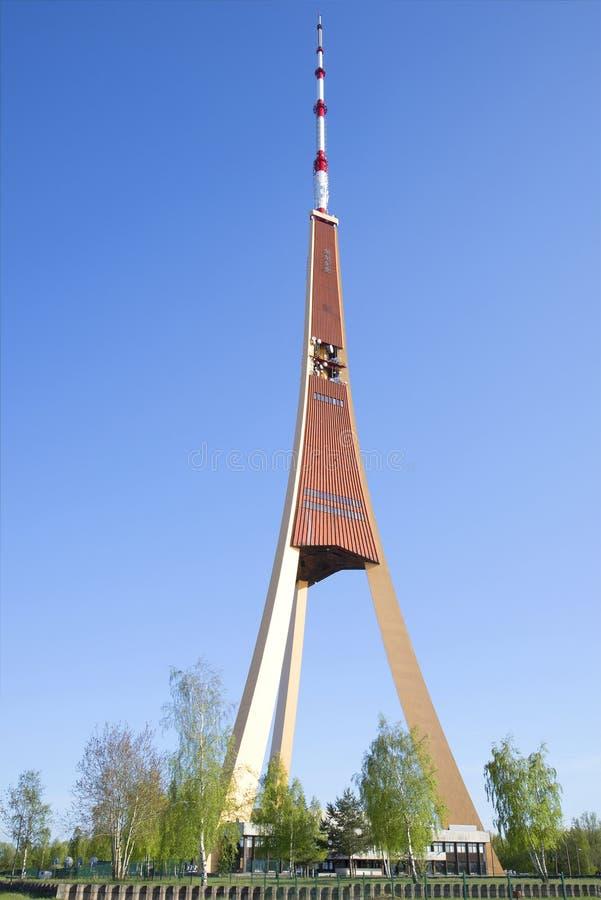 Tour de Riga TV, jour d'été latvia photographie stock