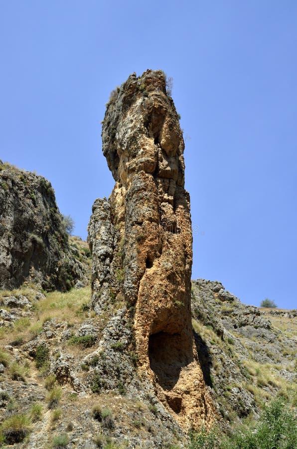 Tour de roche en Galilée, Israël photos stock