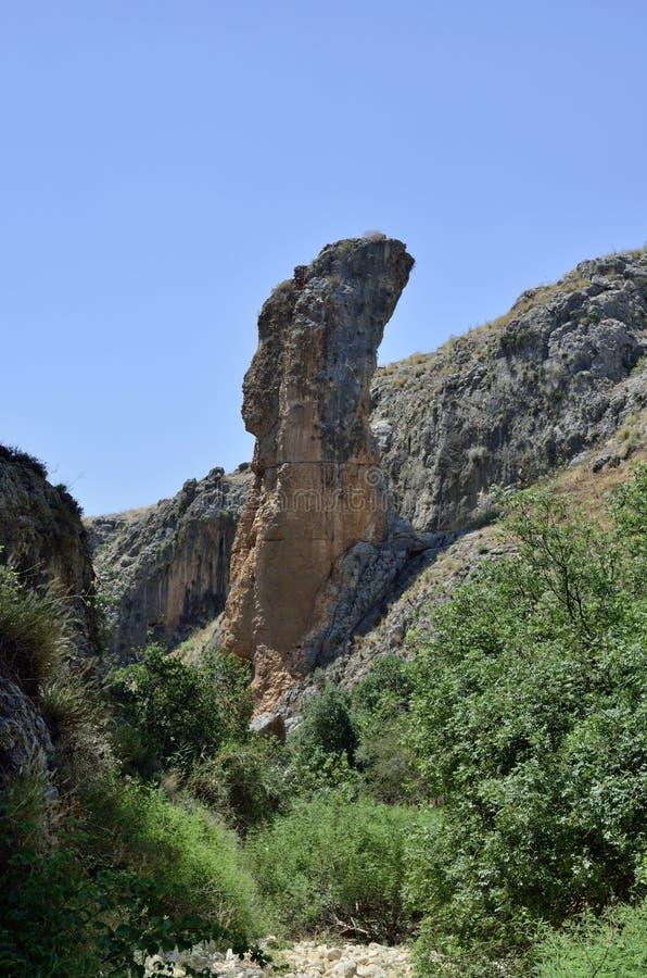 Tour de roche en Galilée, Israël photos libres de droits