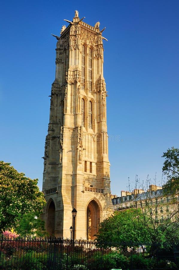 Tour de Saint Jacques, Paris stock image