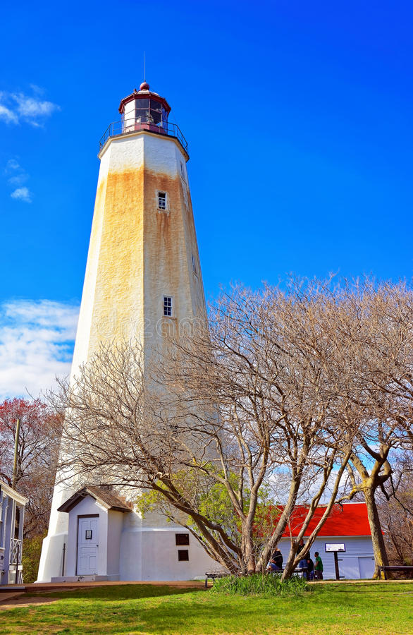 Tour de Sandy Hook Lighthouse image stock
