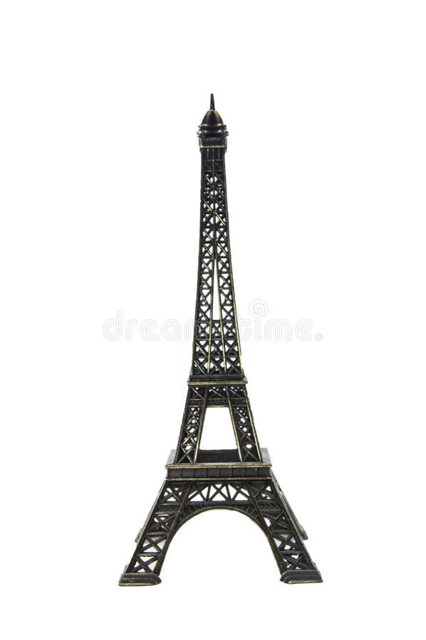 tour de souvenir de Paris de figurine d'Eiffel images stock