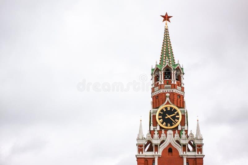 Tour de Spasskaya de Moscou Kremlin photos stock