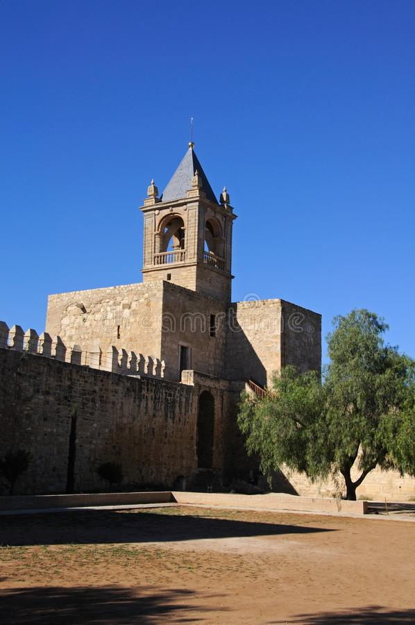 Tour de subsistance de château, Antequera, Espagne. photographie stock libre de droits
