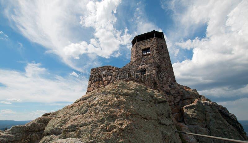 Tour de surveillance du feu de crête de Harney en Custer State Park dans le Black Hills du Dakota du Sud images libres de droits