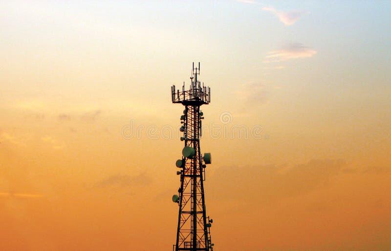 Tour de téléphone portable - antenne photo stock