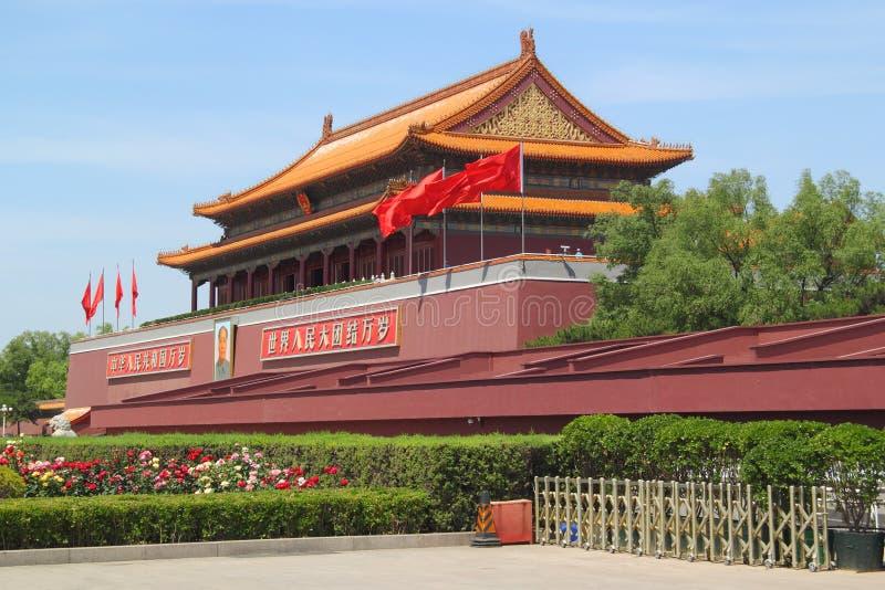 Tour de Tiananmen dans Pékin images libres de droits
