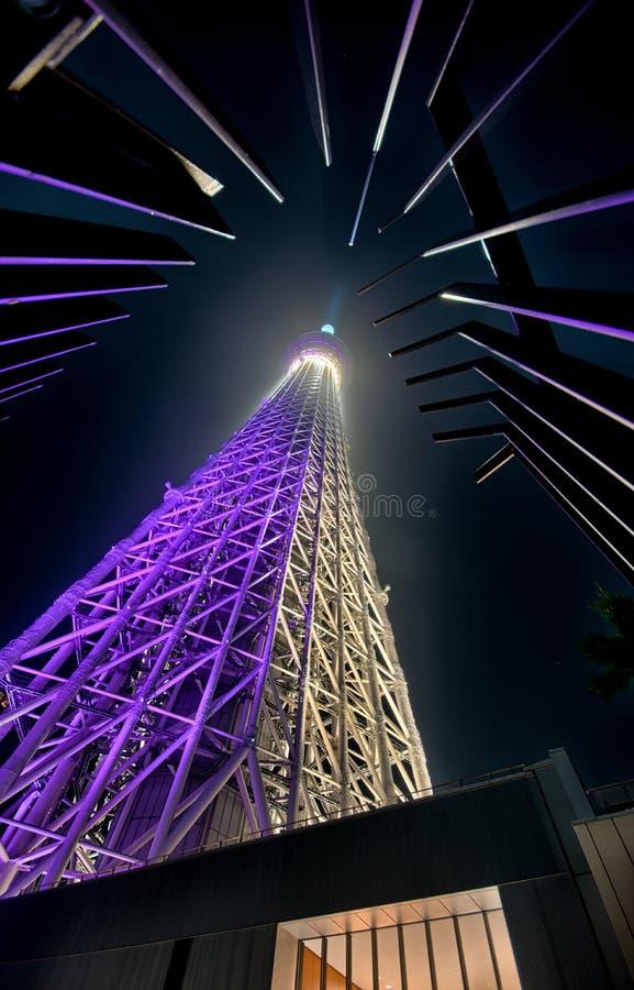 tour de Tokyo de nuit photographie stock libre de droits