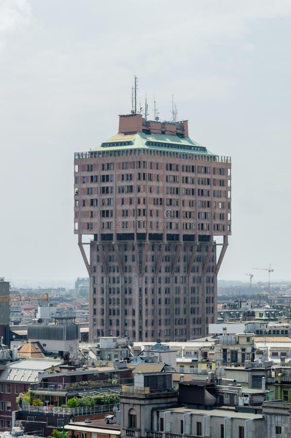 Tour de Torre Velasca Velasca vue photographie stock libre de droits