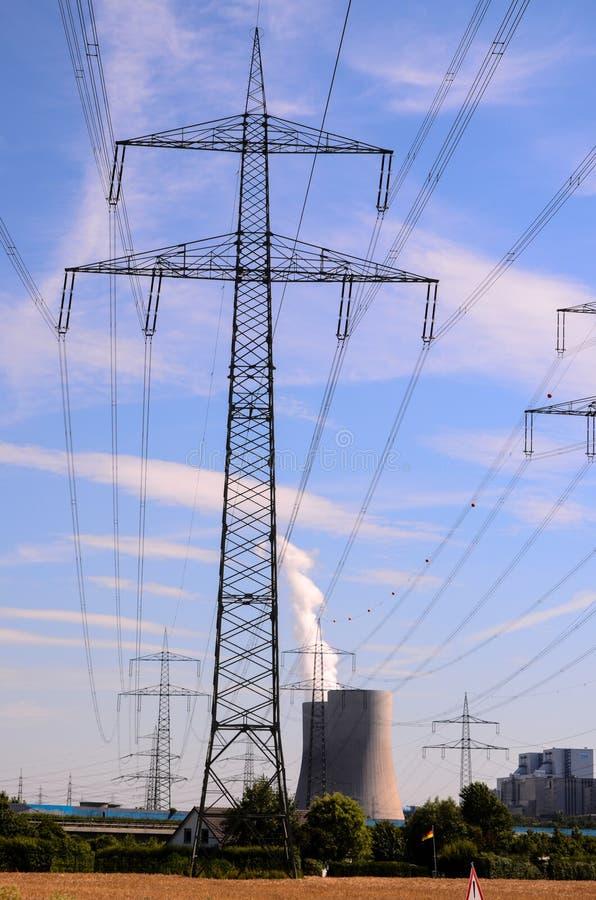 tour de transport d'énergie, image numérique de photo comme fond images stock