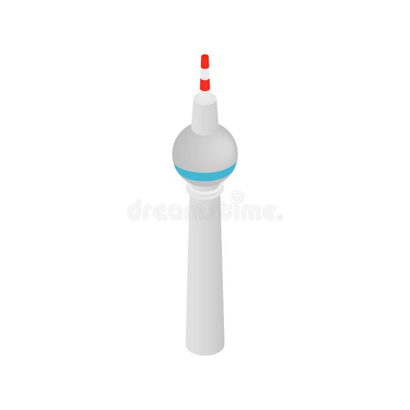 Tour de TV dans l'icône 3d isométrique de Berlin illustration de vecteur