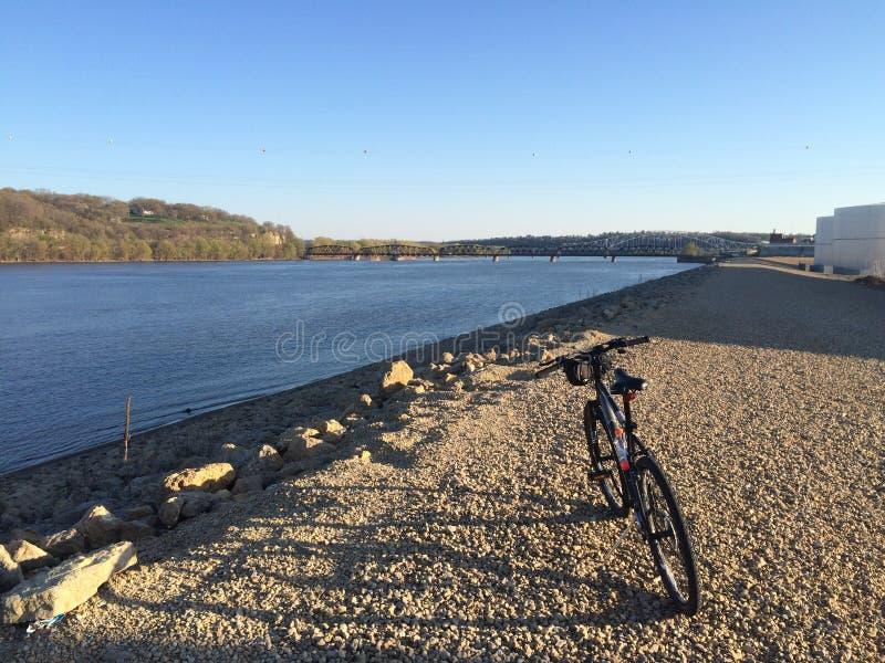 Tour de vélo du Mississippi image stock