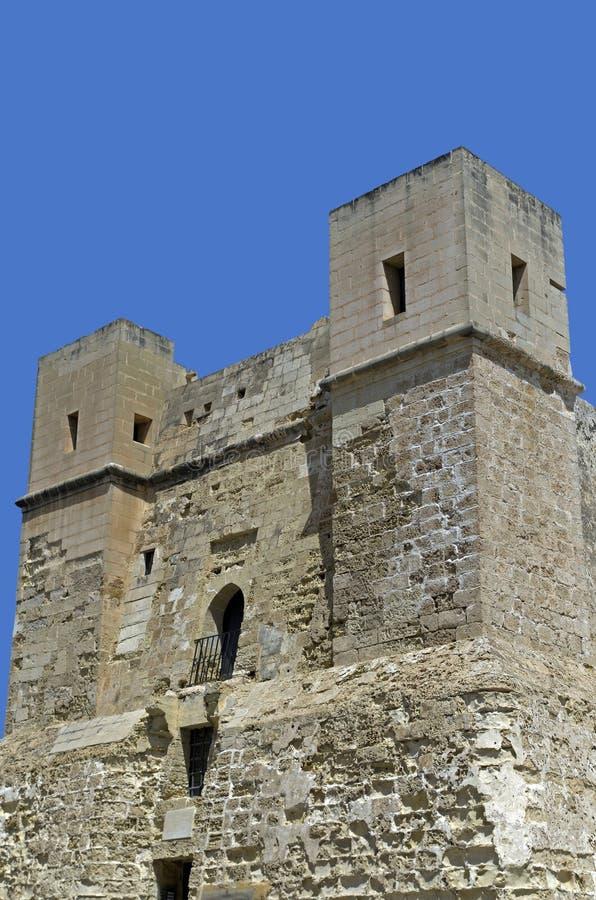 Tour de Wignacourt - cliquet IL-Bahar, Malte de San photos libres de droits