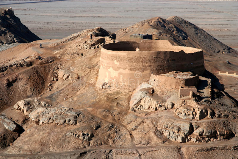 Tour de Yazd de silence images stock
