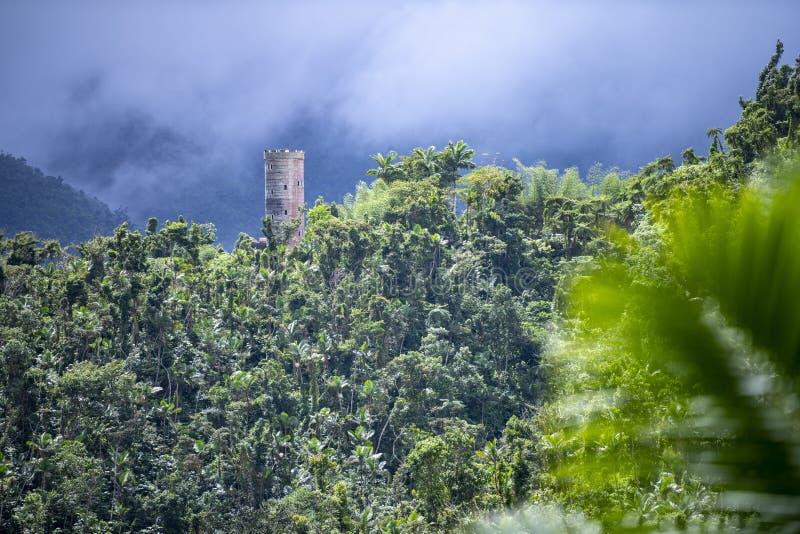 Tour de Yokahú - réserve forestière d'EL Yunque, Puerto Rico images libres de droits