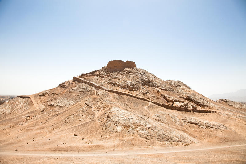 Tour de Zoroastrian de silence, Yazd image stock