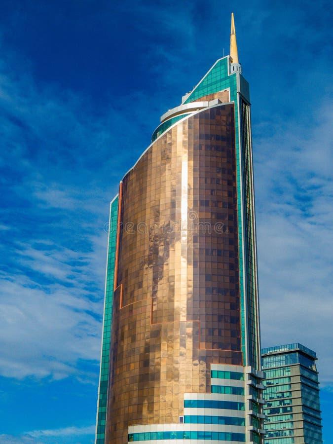 Tour des transports, Nur-Sultan, Kazakhstan photographie stock libre de droits