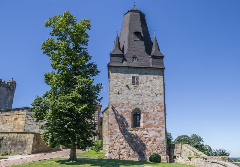Tour du château de sommet dans mauvais Bentheim photographie stock
