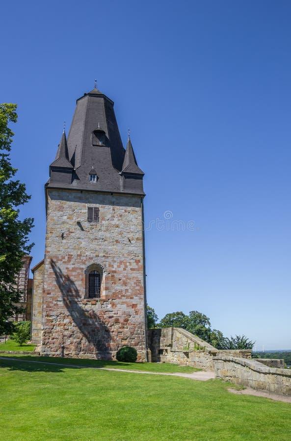 Tour du château de sommet dans mauvais Bentheim photo libre de droits