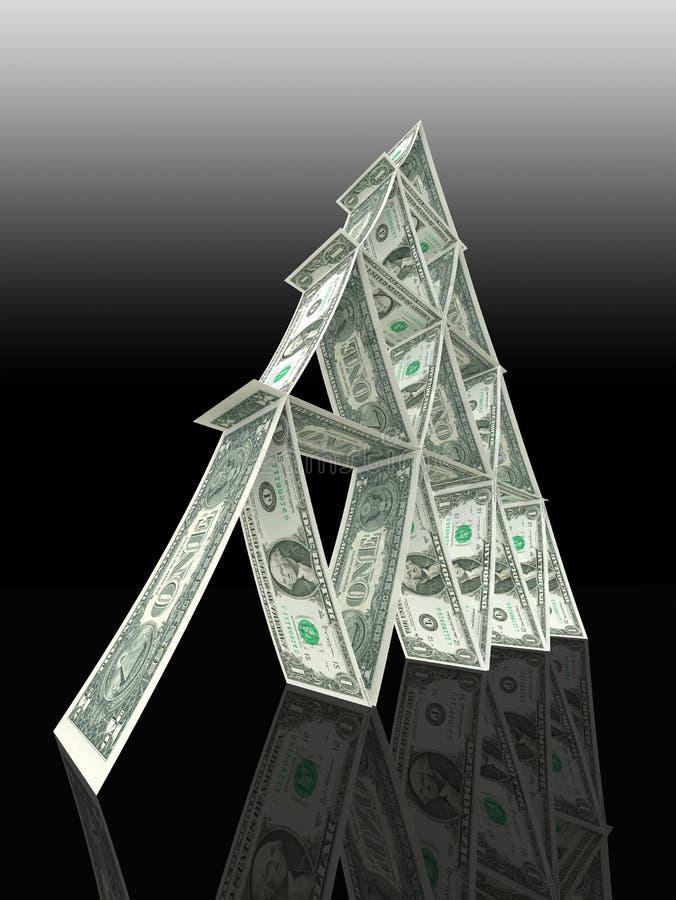 Tour du dollar faite de notes de l'un dollar illustration stock