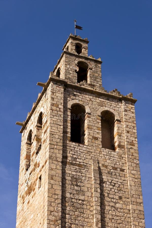 Tour du monastère roman de Sant Cugat, Barcelone image stock